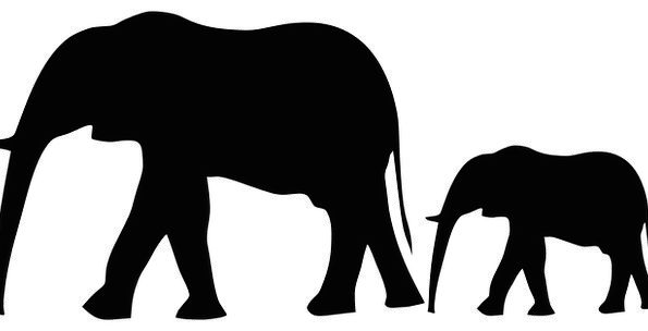 595x304 Elephant, Monster, Physical, Silhouette, Outline, Animal, Mother