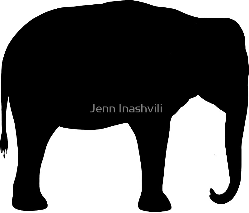 800x686 Asian Elephant Silhouette(S) Stickers By Jenn Inashvili Redbubble