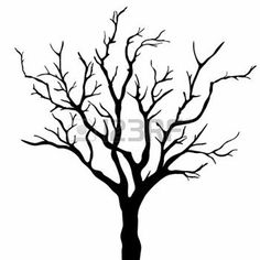 236x236 Deciduous Bare Tree With Empty Branches Black Silhouette Isolated