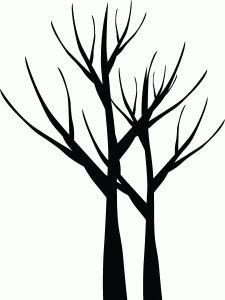 225x300 Free Tree Stencils Black Tree Clip Art