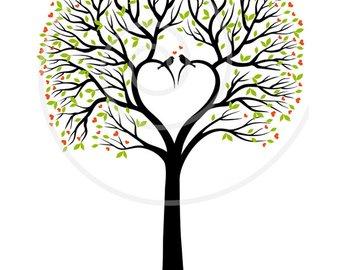340x270 Heart Tree Clipart Etsy