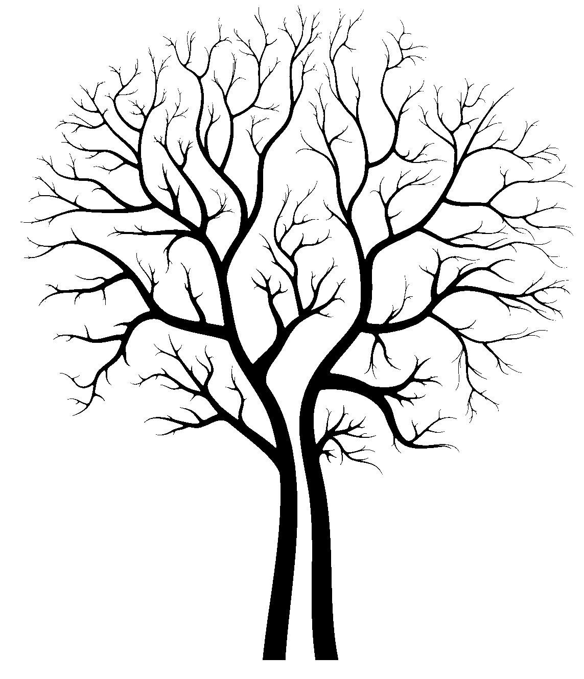 1143x1329 Bare Tree Silhouette Craft Ideas Tree Silhouette