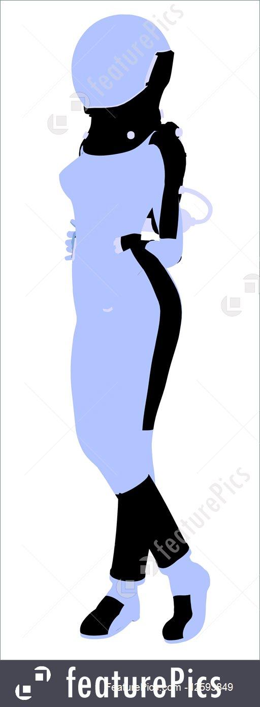 512x1392 Illustration Of Female Astronaut