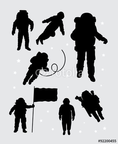 410x500 Astronaut Silhouette Vector
