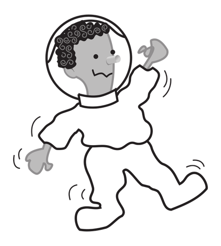 450x500 Astronaut Vector Outline Image Public Domain Vectors
