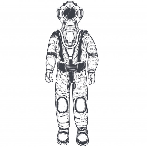 626x626 Astronaut, Cosmonaut In A Space Suit And Helmet Vector Free Download