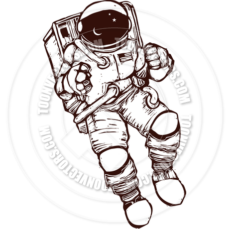 460x460 Astronaut In Space Vector