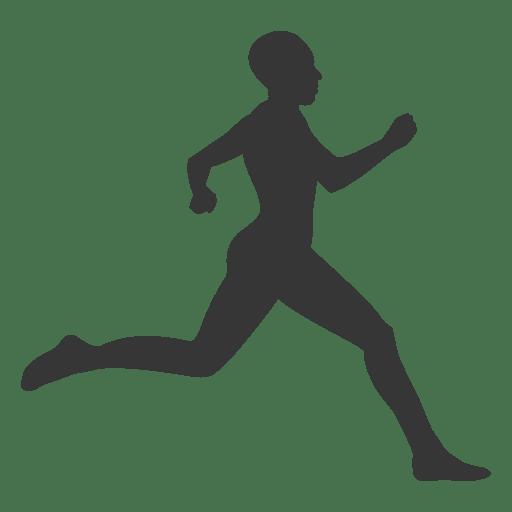 512x512 Girl Athlete Silhouette