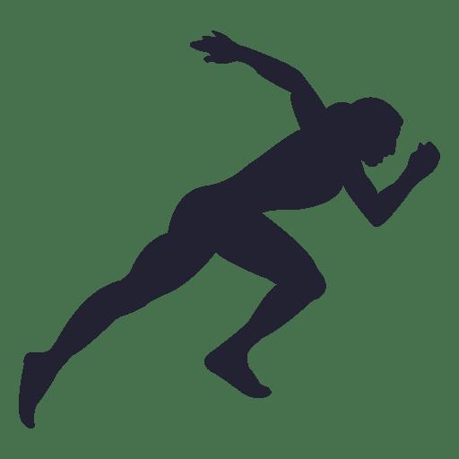 512x512 Girl Athlete Silhouette 5