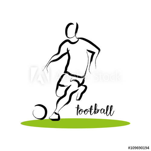 500x500 Hand Drawn Vector Sport Athlete Silhouette Isolated. Sportsman