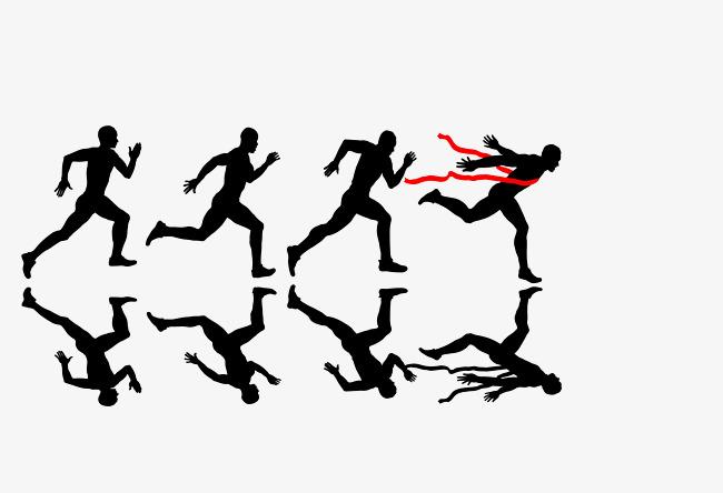 650x444 Vector Black Sprint Athlete Silhouette, Vector Athlete, Black