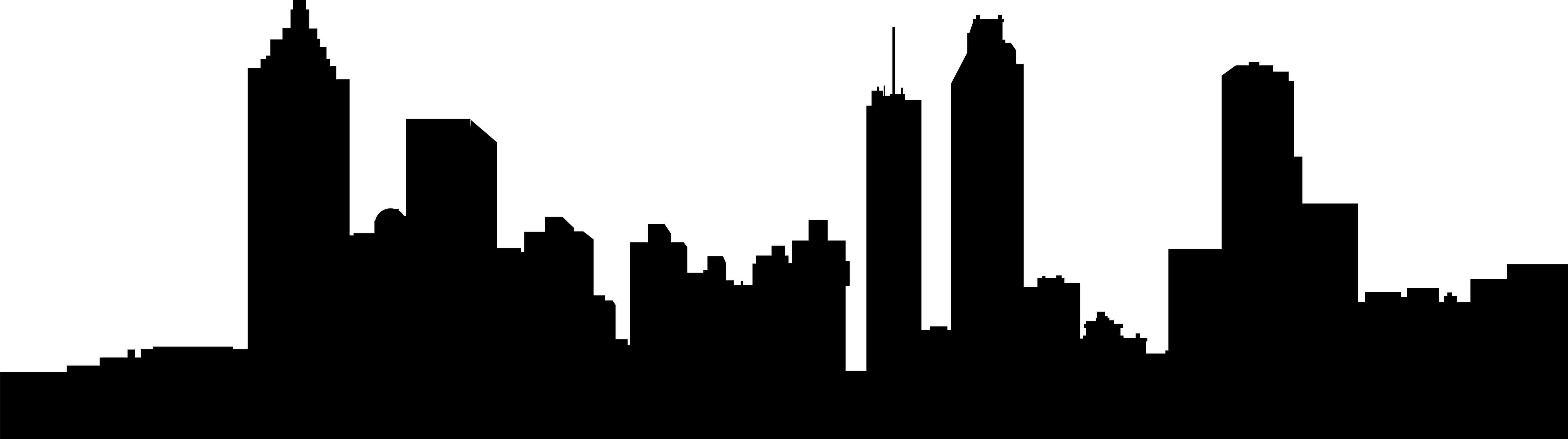 6367x1786 Atlanta Skyline Vector Image Group