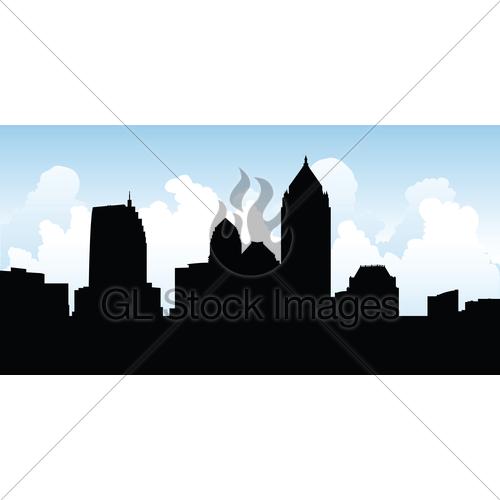 500x500 Atlanta Skyline Gl Stock Images