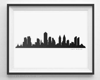340x270 Durham Nc Skyline Silhouette Printable Download Black
