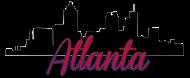 190x78 Atlanta Skyline Silhouette B By Design All Day Spreadshirt