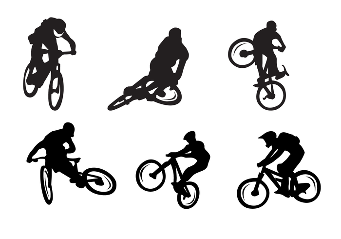 700x490 Bicycle Silhouettes Vector