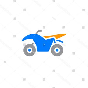 300x300 Photostock Vector Quad Bike Illustration On Abstract Colorful