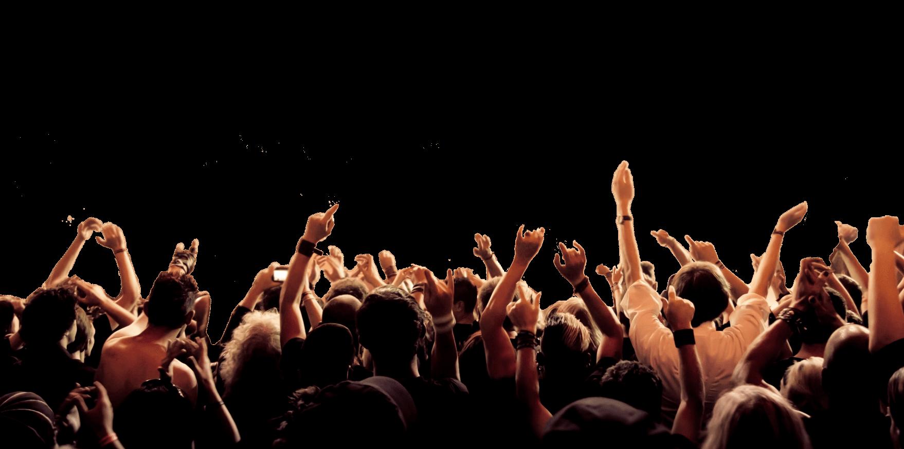 1758x874 Concert Crowd Hands Png