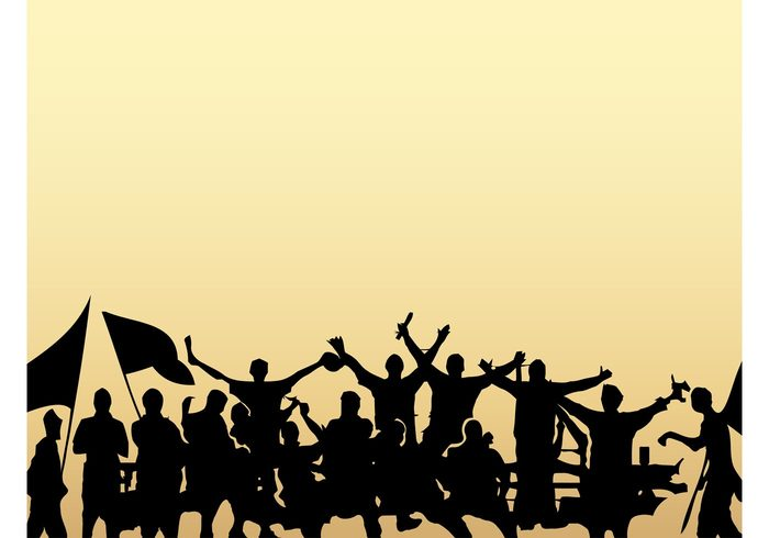 700x490 Crowd Silhouettes Free Vectors Ui Download