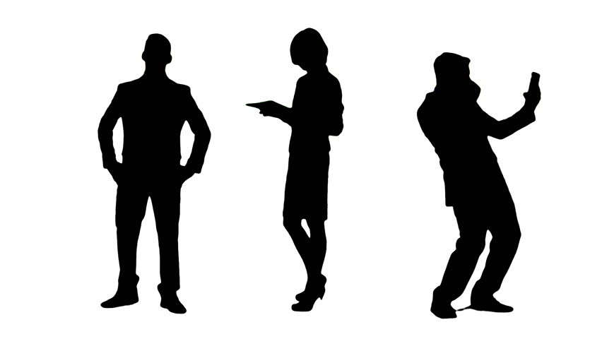852x480 Silhouette Of Three Man And Two Woman Wavingir Hands To