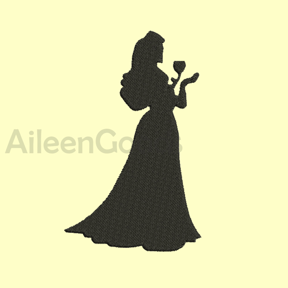 1000x1000 2 Princess Ariel Aurora Embroidery Design 8 Size 8 File Instant