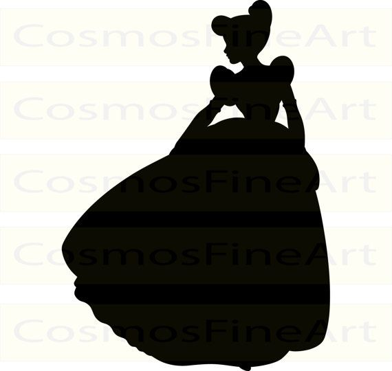 570x540 57 Disney Princess Svg, Disney Princess Silhouette Clipart, Ariel