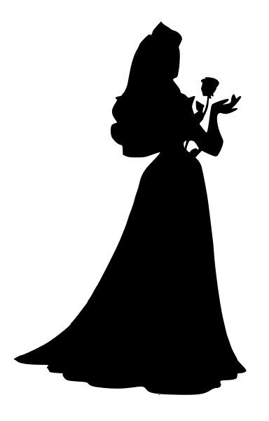 384x600 Sleeping Beauty Aurora Silhouette Decal By Nerdvinyl On Etsy