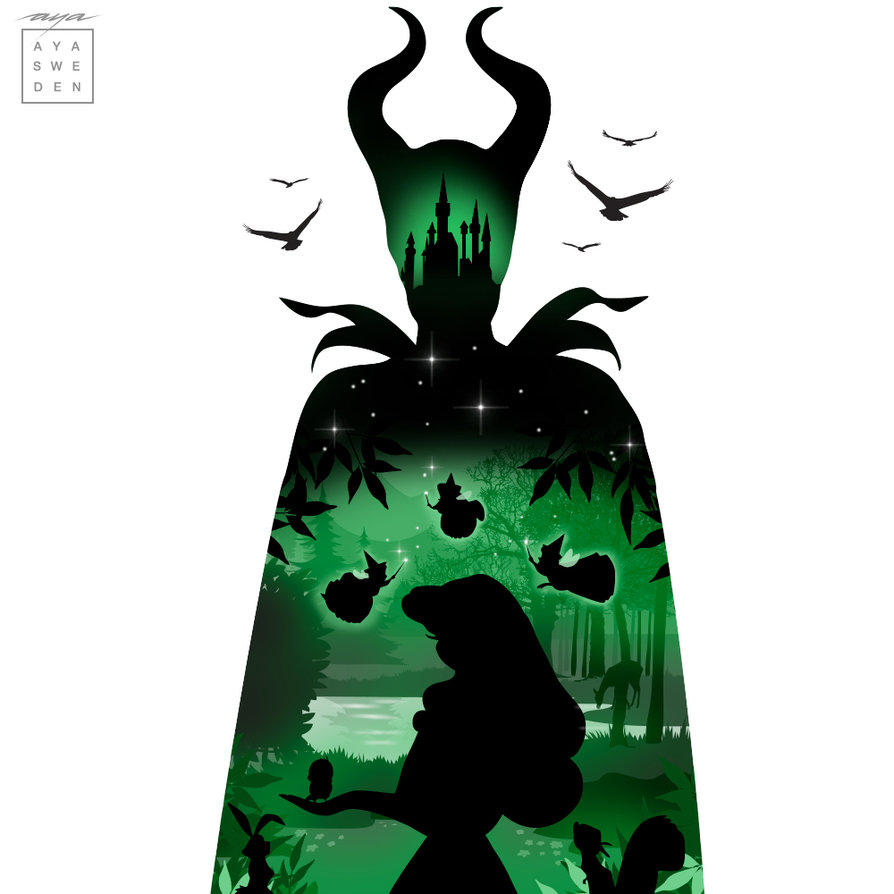 894x894 Sleeping Beauty Silhouette By Sneakyfox2