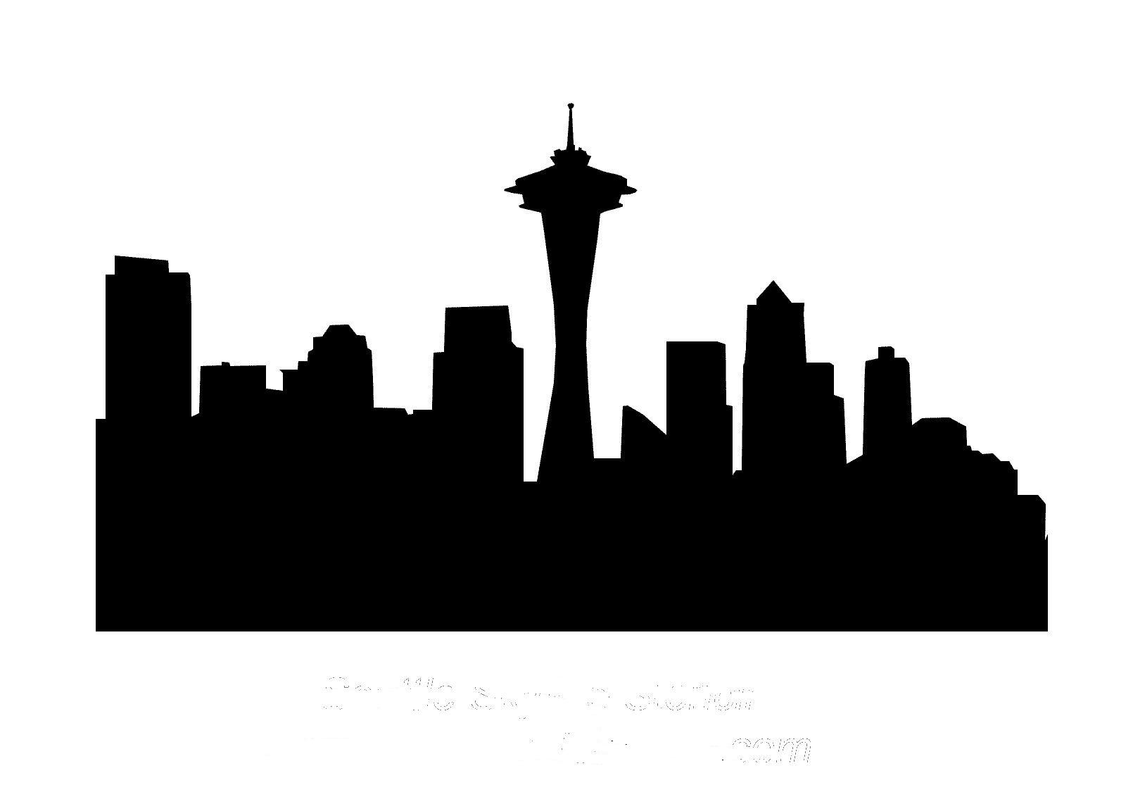 1610x1125 City Clipart Seattle