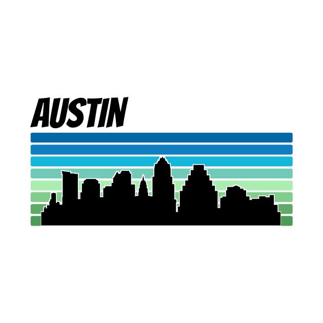 630x630 Retro Austin Skyline