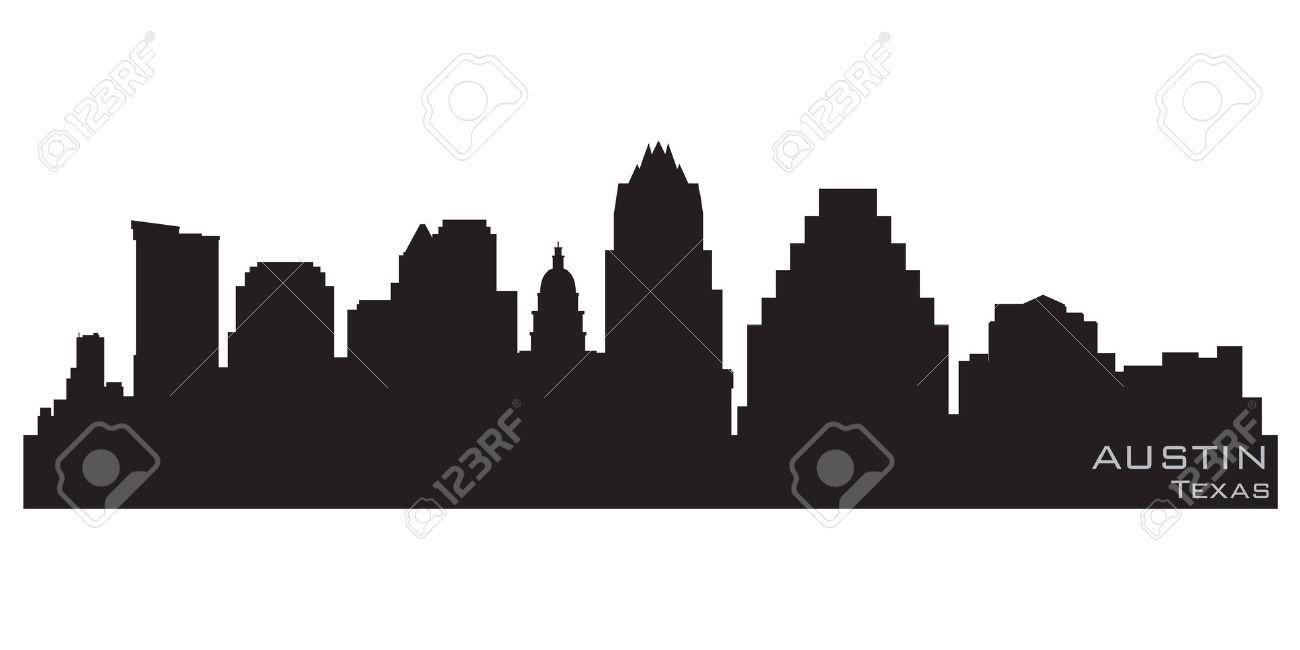 1300x650 Austin Skyline Silhouette