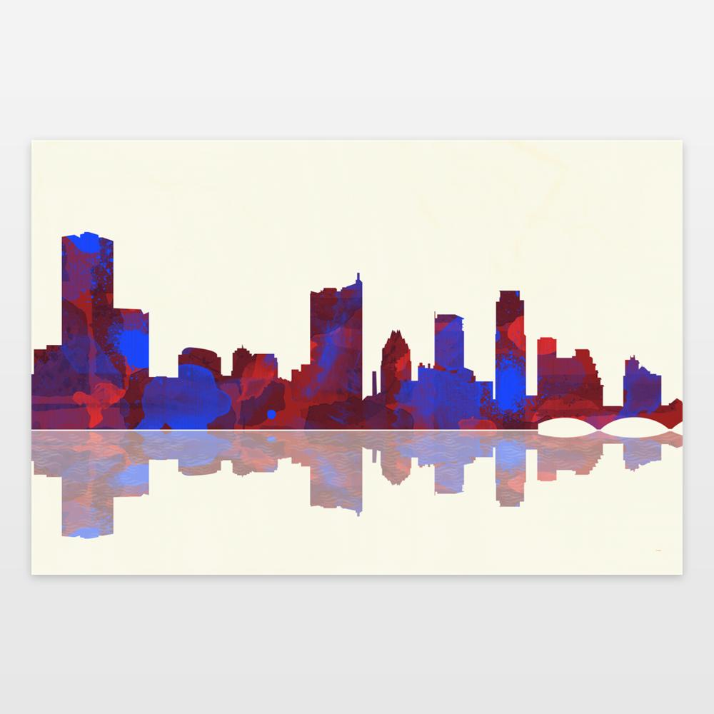 1000x1000 Austin Skyline Art Print By Marlenewatson On Boomboomprints