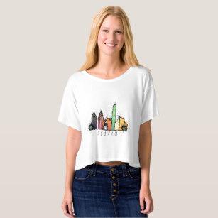 307x307 Austin Skyline T Shirts Amp Shirt Designs Zazzle