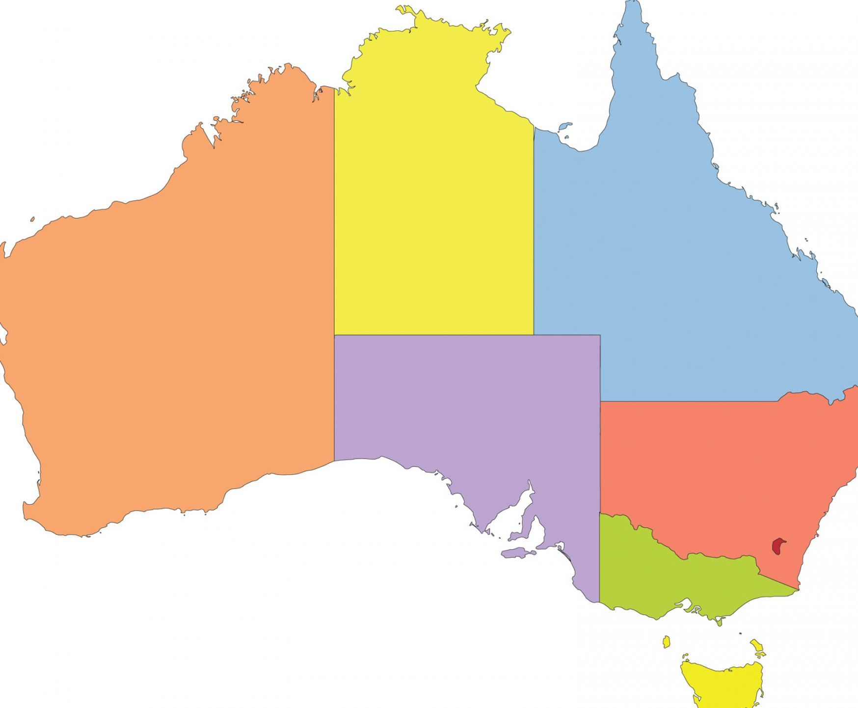 Australia map silhouette at getdrawings free for personal use 1748x1442 blank australia map and gumiabroncs Choice Image