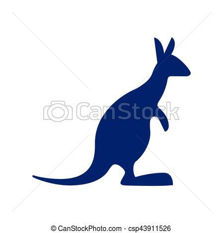 450x470 Blue Kangaroo Silhouette Australia Vector Illustration Eps