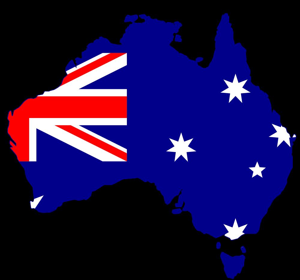 1000x935 Flag Silhouette Australia