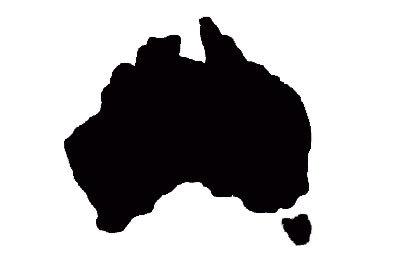 399x274 Australia Map Stencil