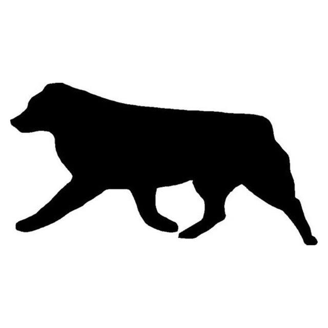 640x640 16.58.8cm Australian Shepherd Dog Car Stickers Silhouette Vinyl
