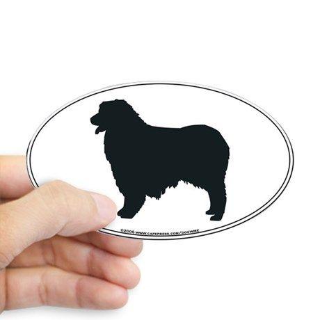 460x460 Australian Shepherd Silhouette Oval Decal Australian Shepherd