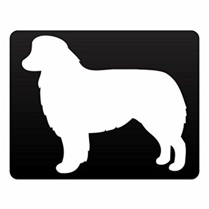 425x425 Eddany Australian Shepherd Silhouette Horizontal Sign