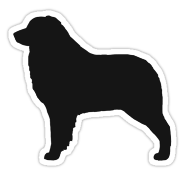 375x360 Australian Shepherd Silhouette(S)' Sticker By Jenn Inashvili