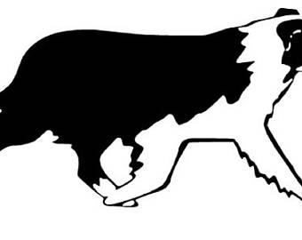 340x270 Australian Shepherd Silhouette Clip Art 101 Clip Art