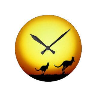 324x324 Australian Animal Wall Clocks Zazzle