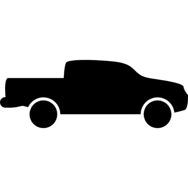 626x626 Pick Up Truck Side View Silhouette Icons Free Download