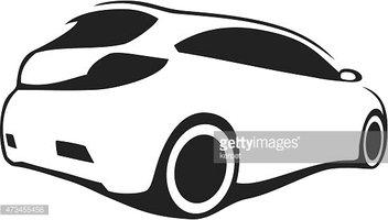 352x200 Tuning Car Silhouette Stock Vectors