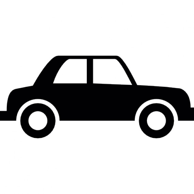 626x626 Vintage Car Silhouette Of Side View Icons Free Download