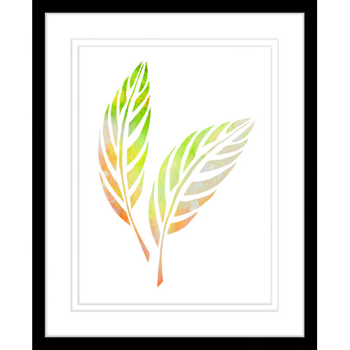 500x500 Autumn Leaves Watercolour Silhouette Framed Print Temple Amp Webster