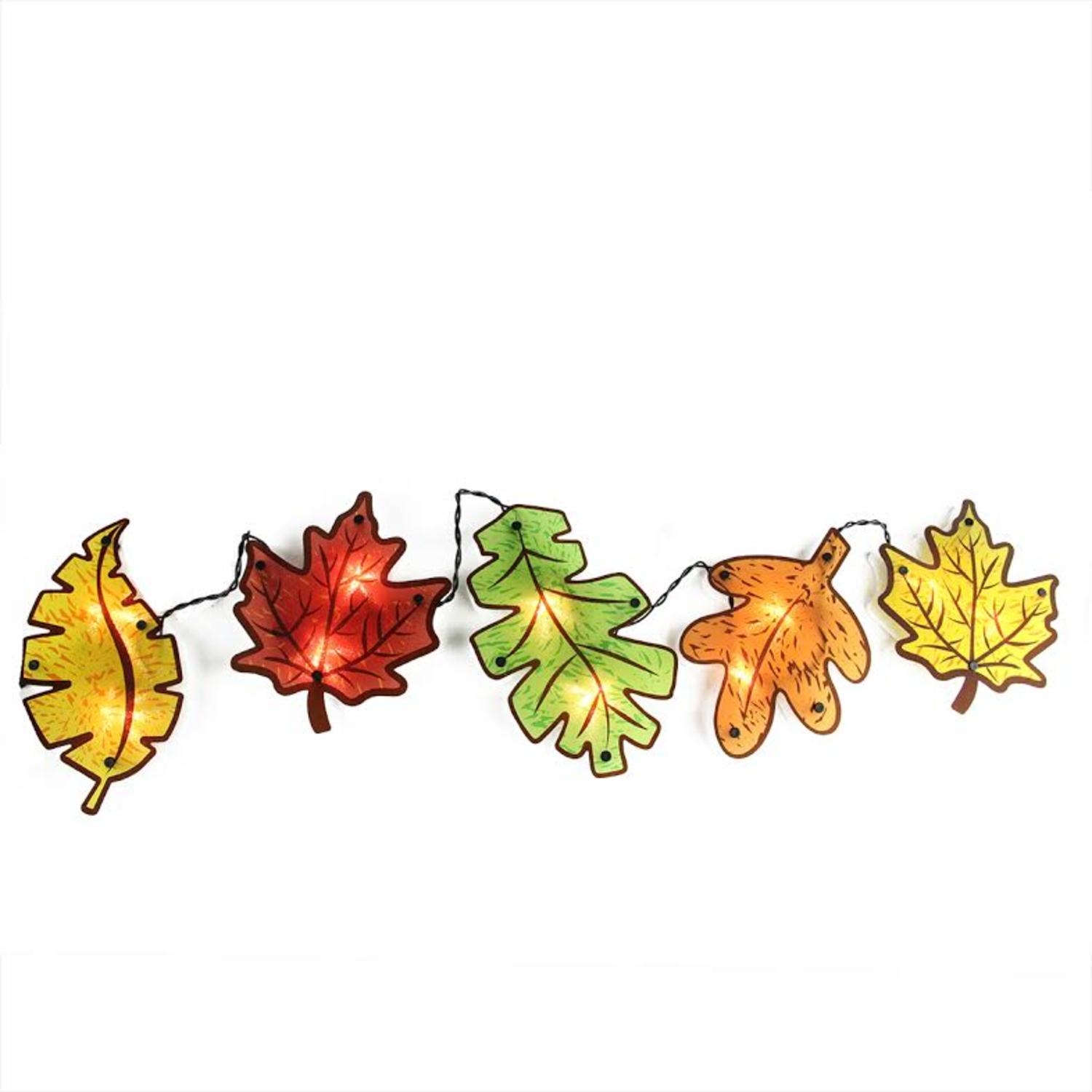 1500x1500 Autumn Yellow, Red, Green And Orange Leaves Window Silhouette