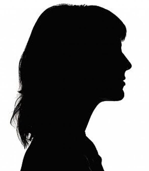 607x699 Female Head Silhouette