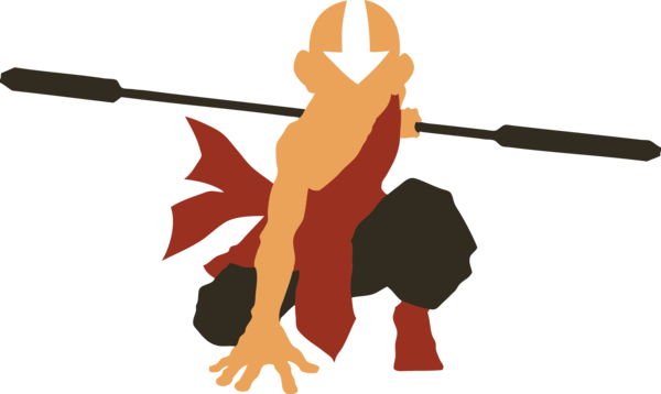 600x358 Avatar Aang Silhouette By Azza1070